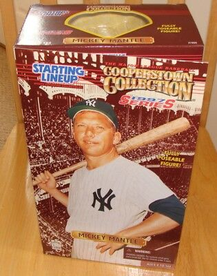 "MICKEY MANTLE 1997 Starting Lineup COOPERSTOWN COLLECTION 12"" Doll Memorabilia"