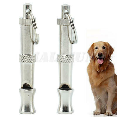 2 x Dog Barking and Training Whistle Ultrasonic supersonic stop bark key ring