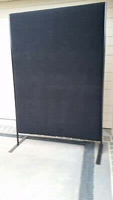 Clean*tall Black Freestanding Office Partition*2 Avail*room Divider*desk Screen