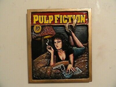 Pulp Fiction > handmade wood carved poster by DM Kirwin > movie poster