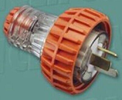 Clipsal INDUSTRIAL STRAIGHT PLUG 250V 20A 3-Flat Pins,Resistant Orange*AUS Brand