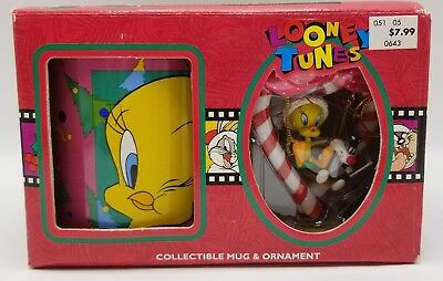 Tweety Bird Mug Cup an Ornament Set New Looney Tunes Warner Bro Collectible 1996