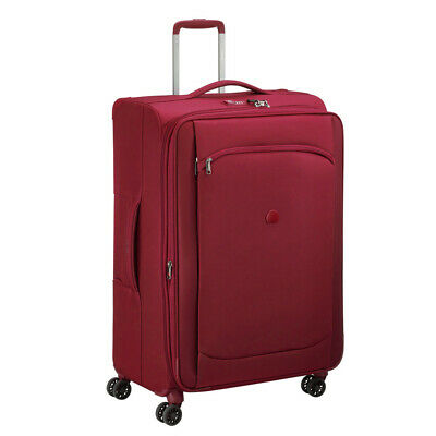 NEW Delsey Montmartre Air Red Expandable Spinner Case 77cm