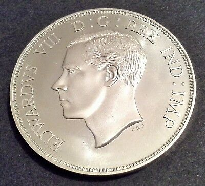 Canada 1937 Edward Viii Unofficial Dollar - Sterling Silver With Uncrowned Head