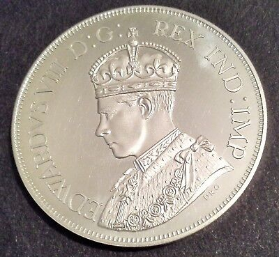 Canada 1937 Edward Viii Unofficial Dollar In Sterling Silver With Crowned Head