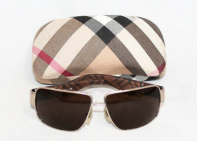 BURBERRY B3040 Nova Plaid Sunglasses & Matching Hard Case Brown Lenses