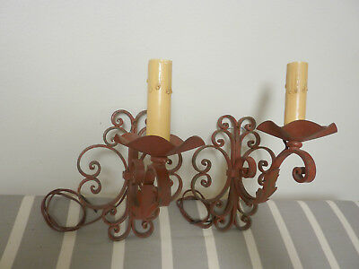 Pair of Antique French Iron Sconces