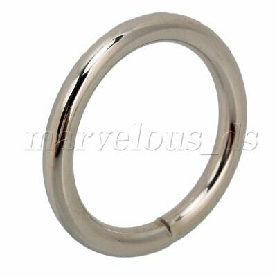 20x Non Nickel Plated O rings metal Silver steel straps Adjuster collars craft