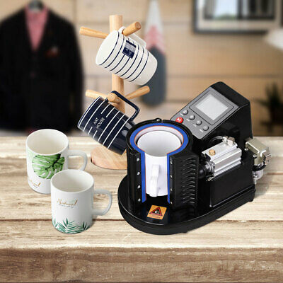 """Automatic Pneumatic Mug Heat Press Transfer Sublimation Machine for 3 1/8"""" Cup"""