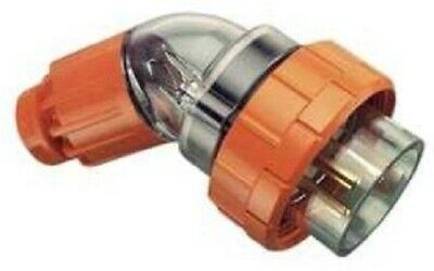 Clipsal INDUSTRIAL ANGLED PLUG 250V 3-Round Pins, Resistant Orange- 20A Or 32A