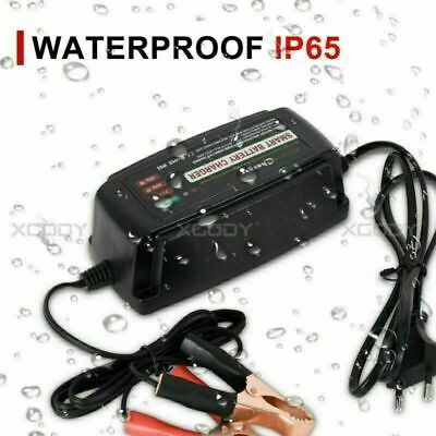 12V Volt 5A Ultra Safe Battery Charger for Motorcycle Trickle Automatic EU PLUG