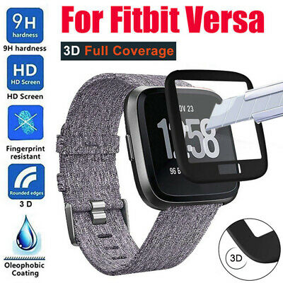 1PC Full Coverage Edge Tempered Glass Screen Protector Cover For Fitbit Versa