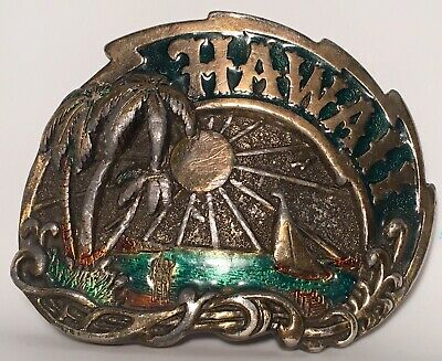 Retro 1982 Hawaii Belt Buckle~The Great American Buckle Co~Numbered ~Rare