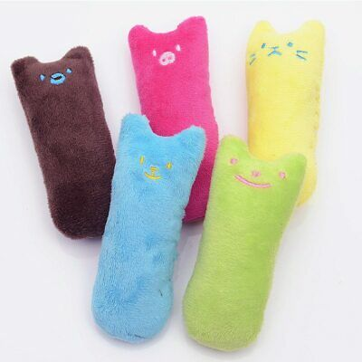 Cute Safety Plush Pillow Scratch Crazy Cat Chew Catnip Teeth Grinding Toys 1PC