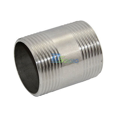 """1x 1-1/4"""" Male x  1-1/4"""" 49mm Male Threaded Pipe Fitting Stainless Steel 304 BSP"""