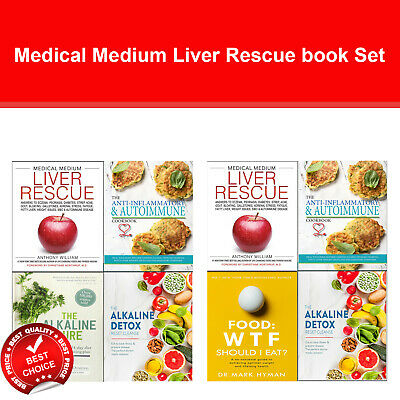 Medical Medium Autoimmune 4 books collection set Liver Rescue, Alkaline Cure NEW