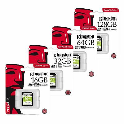 Kingston 16/32/64/128GB SD SDHC SDXC Flash Memory Card Class 10 UHS-I 80MB/s