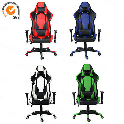 ❤Gaming Racing Office Chair Executive Computer PU Leather Adjustable Tilt Swivel