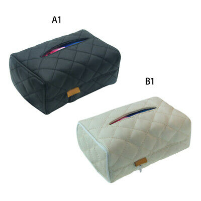 PU Leather Tissue Boxes Cover Pumping Paper Hotel Car Home Napkin Holder HOT