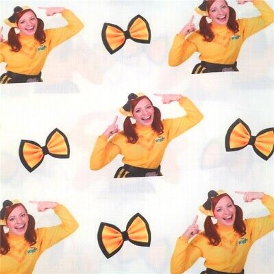Fabric The Wiggles Emma Big Yellow Bow Print Polycotton Blend 50X145Cm/20X58In