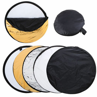 """Photo Studio 80cm 32"""" Reflector 5-in-1 Multi Collapsible Panel UK delivery"""