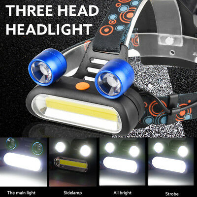15000LM XM-L T6 LED +COB Rechargeable 18650 Camping Headlamp Head Light Torch US