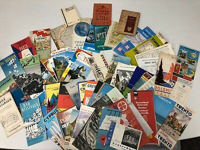 Large Collection Of Vintage European City Maps / Local Guides / Information Etc