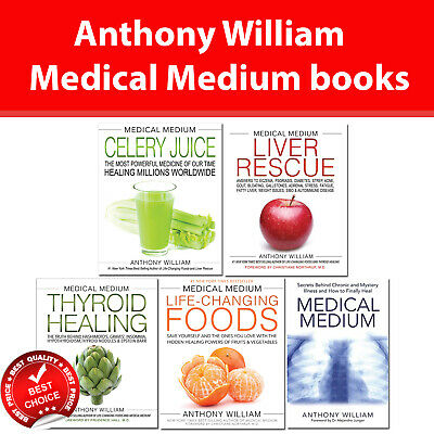 Medical Medium Anthony William collection 4 books set Liver Rescue, Thyroid Heal