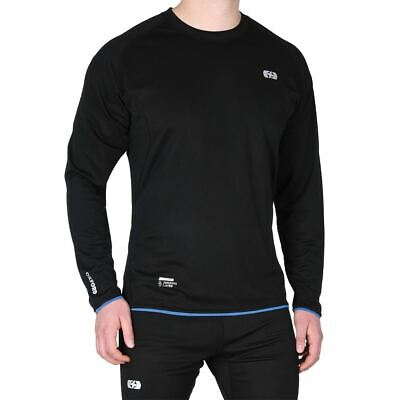 Oxford Cool Dry Motorcycle Base Layer Motorbike Under Shirt Top Sports Black
