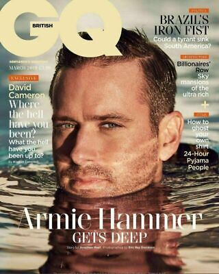 Armie Hammer - British Gq Uk Magazine - March 2019 - Brand New