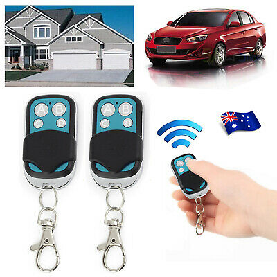2x Universal Garage Gate Door Cloning Remote Control Key Fob Copy Code 433.92mHz