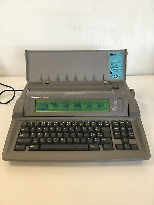 Sharp Font Writer Personal Word Processor FW-560s Good Working Order