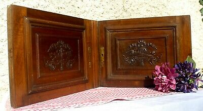 Lovely Pair of French Antique Carved Wooden Panels - French Decorative Doors