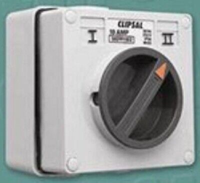 Clipsal SURFACE ROTATING SWITCH 250V 15A 1-Pole 2-Way 4-Terminal, Chemical Grey