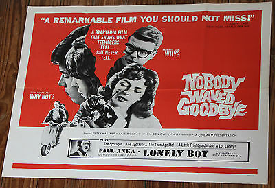 Used - Poster Film NOBODY WAVED GOODBY Vintage Movie Film Poster - Used