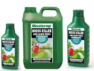 Maxicrop Moss Killer and Lawn Tonic Saturates Moss for Quick control Pick Size