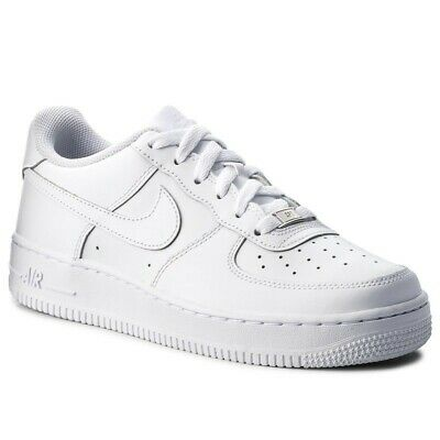 info for bb040 8e750 Scarpe Donna Ragazzi Nike Air Force 1 In Pelle Bianche Sneakers Sportive  2019