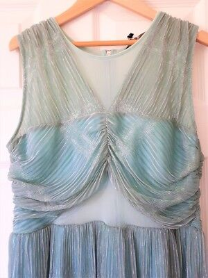 Shimmer Dress 20s Style Sheer Midriff Fits UK 10-12 (label is 14) RI