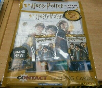 Harry Potter Panini Contact Trading Cards Game Starter Pack Album + 10 Cards