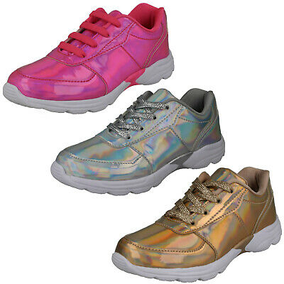 WHOLESALE Girls Hologram Trainers  / Sizes 10-3 / 16 Pairs / H2W556