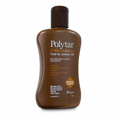 Polytar Scalp Shampoo Itchiness Eczema Psoriasis Dandruff Coal Tar 4%-150ml NEW
