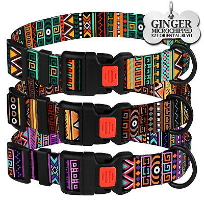 Nylon Dog Collar Adjustable Collars for Puppy Tribal Small Medium Extra Large