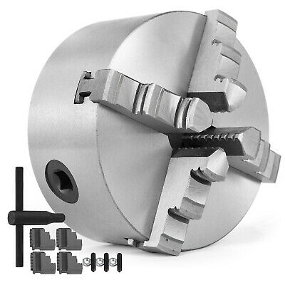 4'' Lathe Chuck K12-100 4 Jaw Self Centering Reversible Scroll Hardened Metal