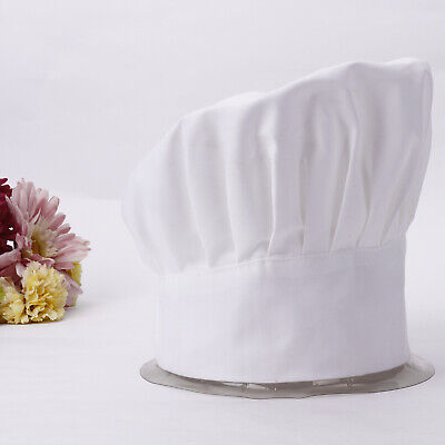 Poly Cotton Chef hats Adult Elastic Adjustable Cooking Baker Kitchen Catering