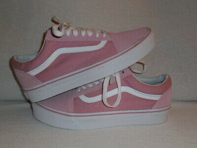 7abd2e27ed VANS OLD SKOOL Zephyr Pink/white Skate Shoes Canvas/Suede (Women's 8) (MENS