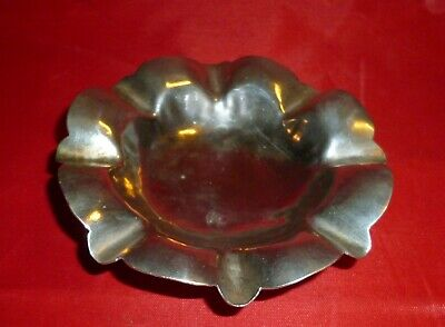 Egyptian Silver Ashtray set on three feet