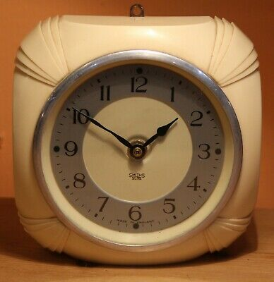 Smiths Art Deco Sectric Wall Clock with new quartz movement