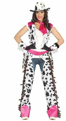 Womens Rodeo Cowgirl Wild West Gunslinger Fancy Dress Costume Ladies Outfit