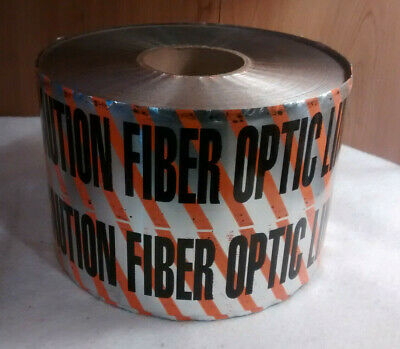 "Case of 3, Pro-Safety Detectable Tape  ""Caution Fiber Optic Line"" 6"" x 1000'"