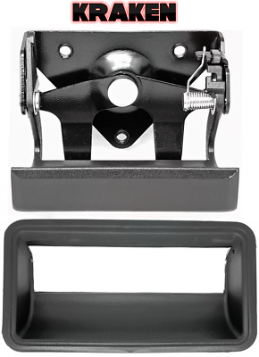 1988-1998 Chevy GMC Truck For Metal Tailgate Latch Handle With Rod Clips Black